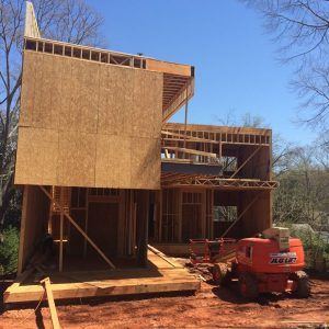 Modern home geothermal project atlanta